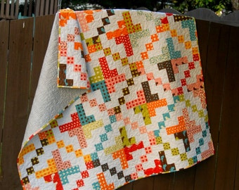 "Digital pdf Quilt Pattern - On a ""Jelly Roll - Baby Quit - Toddler Quilt - Lap Quilt - Jelly Roll Pattern -Easy Quilt Pattern"