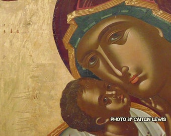 Wall Art, Madonna and Child, Image of Icon, Digital Download