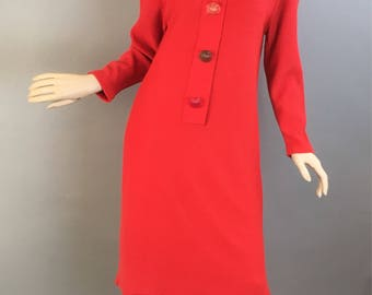 Vintage 80s Dress// 80s Power Dress// Vintage Secretary Dress (F1)