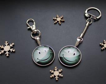 Gray keychain or handbag SMILEY smile emoticon