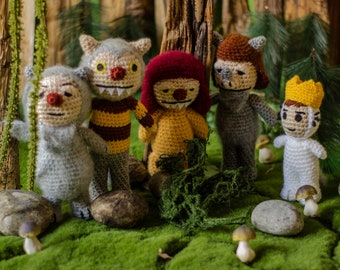 Where the wild things are / wtwta party / Five dolls /Carol / Kw / Ira / Judith / Max / Maurice Sendak Story dolls Wild onefor kids and baby