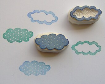 Cloud Rubber Stamp, cloud stamp, weather stamp, kids stamp, bubble cloud stamp, postcard stamp, rain cloud stamp, scrapbooking, cardmaking