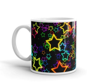 ColorFul Star Coffee-Tea , Mug, Come's In 15oz and 11oz,