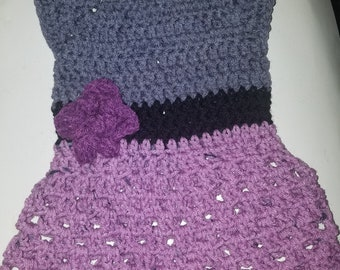 Crochet dress and shoes