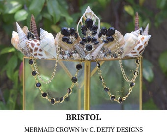 Mermaid Crown, Festival Crown, Bohemian Bride Shell Crown ~ BRISTOL