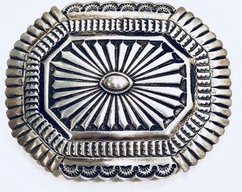 Vintage navajo sterling belt buckle navajo, buckle .