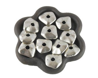 x 20 metal (130 c) 12mm antiqued silver nugget bead