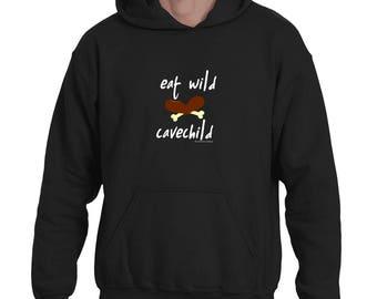 Eat Wild Cavechild Hoodie