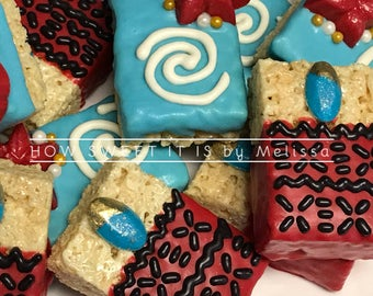 Moana Rice Krispie Treats - Birthday, Favor