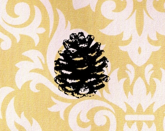 Pine Cone Stamp: Wood Mounted Rubber Stamp