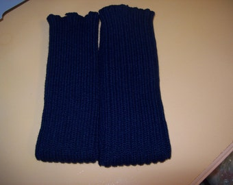 Navy Blue Knitted Leg Warmers ,Arm Warmers, Dance legwarmers, Boot Legwarmers