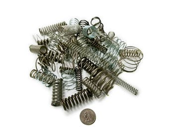 Medium Size Compression Springs Variety Assorted Mixed Bag - Set of 50