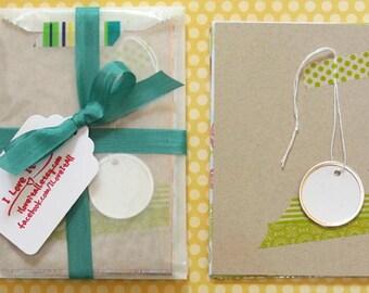 Green Color Pop DIY KIT Mini Album Book Notebook Daybook . Mixed Media Paper Pack Smash Art Journal Travel Trip Baby Brag Scrapbook Album