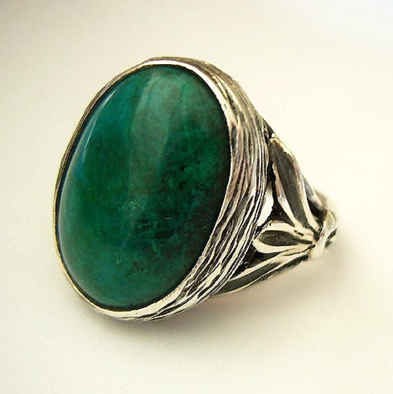ring moss green agate unique il stone au healing listing rings obvx