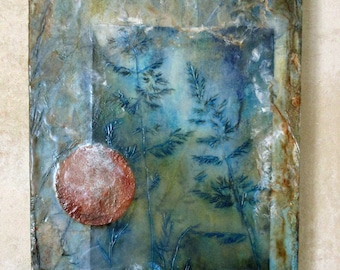 Original encaustic painting - Abstract