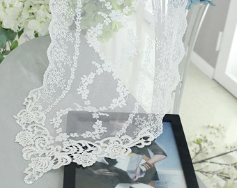 Free shipping-Wholesale Wedding Tablecloth Tabletopper Table Runner Doily Lace 31(W)cm