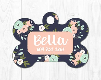 Dog Tags for Dogs Personalized Dog Tag for Collar Dog Collar Tag Dog ID Tag Custom Pet Tags Pet ID Tag Custom Dog Tag Pink Mint Blue Fun