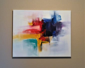 Acrylic Canvas Painting - Brush Strokes
