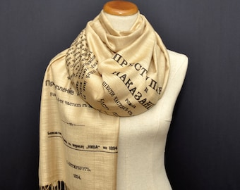 Crime and Punishment shawl/scarf - russian version