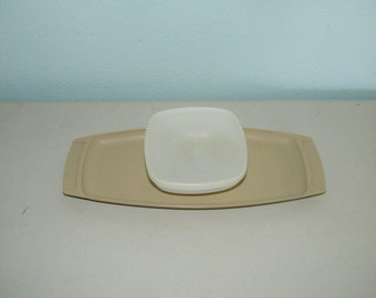 Tupperware Relish Chip Fruit Tray w/ Cup Vintage 771-1 11147