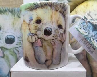 Hedgehog Mug Collectable Baby Hedgehog Mug Morena Artina