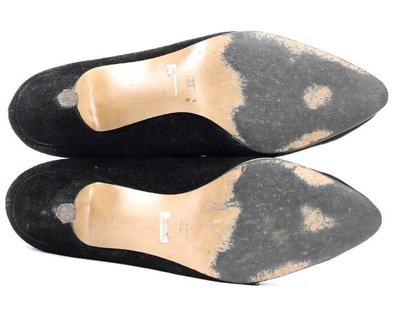 70s Retro Shoes Eur Uk Suede 5 Strap Leather Witchy Granny size Corset 6 Shoes Heeled Shoes Victorian 38 Black 4 Victorian Shoes Shoes gWX7qT