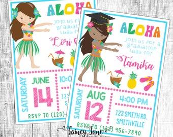 Luau Party Invitation, Graduation Party Invitation, Luau Birthday Invitation, Luau Birthday Party, Graduation Luau Party, Aloha Invite
