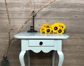 Blue Farmhouse Table