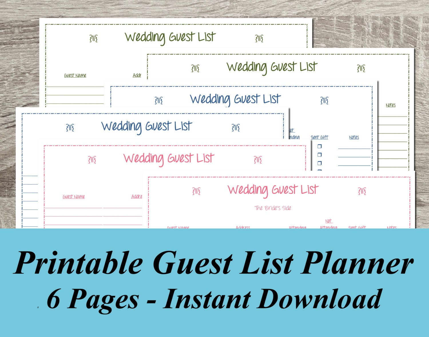 🔎zoom  Printable Wedding Guest List Spreadsheet
