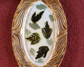 Leaf Motif Platter