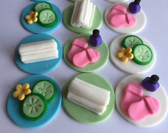 carpenter cupcake toppers 12pcs 175 fondant baby shower