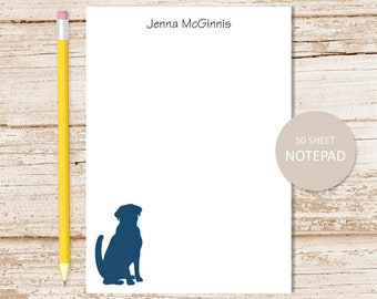 personalized dog notepad . dog note pad . personalized stationery . dog stationary . sitting dog silhouette, pet, puppy dog, doggy