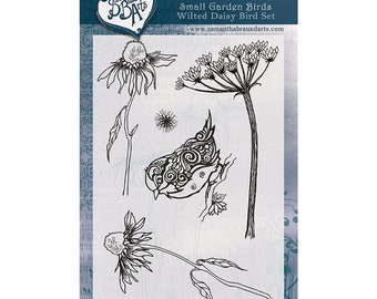 Wilted Daisy Bird Stamp Set/ As Seen On TV/A6/Photopolymer