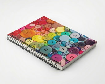 One dollar SALE Rainbow Buttons Notebook