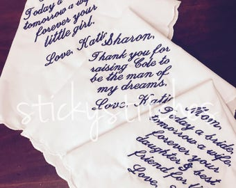 Customize Wedding Handkerchiefs