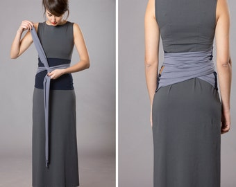 Dual color Obi belt, Wrap belt, Wide belt, Waist belt, Corset belt, Cloth belt, Blue belt, Japanese blothing, Unique gifts, Womens clothing