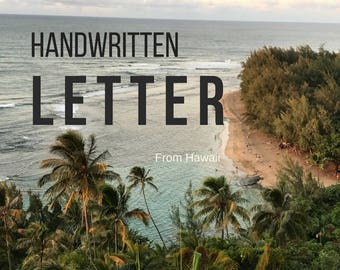 Handwritten Letter from Hawaii