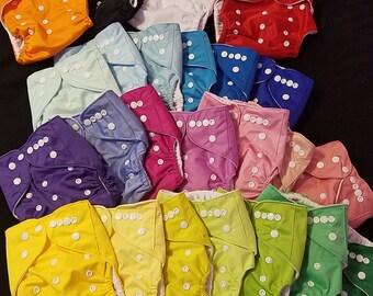 OS Solid Color Cloth Pocket Diaper