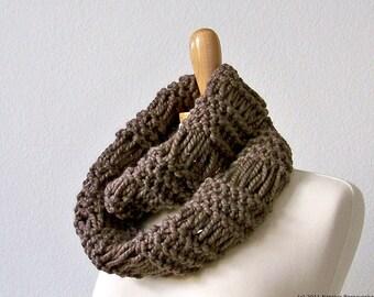 Knitting PATTERN, Knit Infinity Scarf Pattern, Knit Cowl Scarf Pattern, Chunky Infinity Scarf Pattern Chunky Scarf Pattern Knit Cowl Pattern