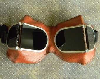 Awesome Vintage Steampunk Style Tinted Goggles. Steampunk Sunglasses. Very Good Condition Military Goggles for Steampunk Fans.