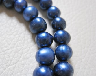 Cultured Freshwater Pearl Strand, Iris Blue