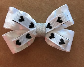 2.5 inch white bow