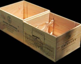 French Wine Crates, Wood Crates, Wedding Decor, Gift Card Box, Home Wine Bar Decor,  Wood Wine Crafts
