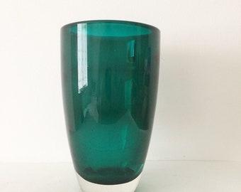 Vintage Whitefrairs vase, Green Vase