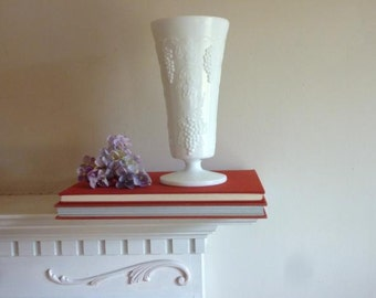 Vintage Milk Glass Vase,  Colony Harvest Milk Glass,  Vintage Vase