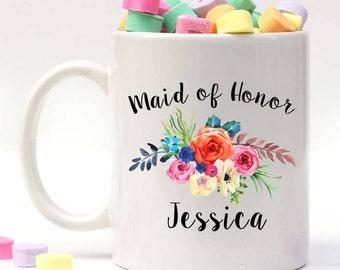 Maid of Honor Mug, Mug for Maid of Honor, Matron of Honor Mug, Engagement Mug, Personalized Mad of Honor Gift, Custom Wedding Mug