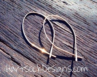 Open Hoop Earrings, Boho Hoop Earrings, Arc Earrings, Gold Hoop Earrings, Minimalist, Gift for Her