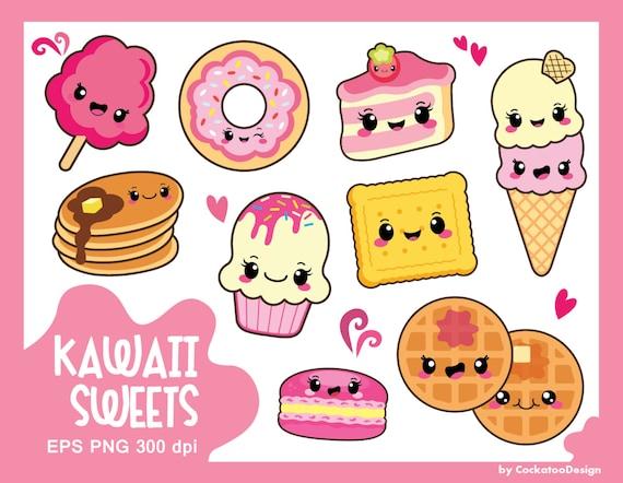 30 off kawaii clipart kawaii sweets clipart kawaii food rh etsy com kawaii clipart free kawaii clipart tumblr