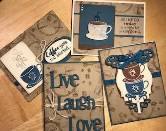 Religious coffee card set, inspirational coffee themed card set, faith coffee themed card set