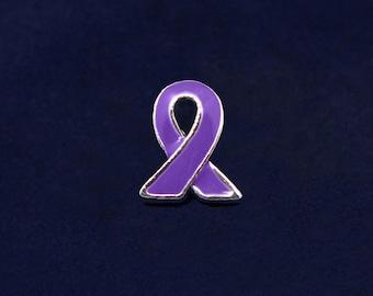 Purple Ribbon Lapel Pin (RE-P-06-4)
